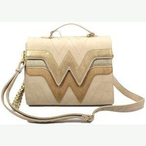 Dc Comics Wonder Woman Quilted Flap Crossbody Bag